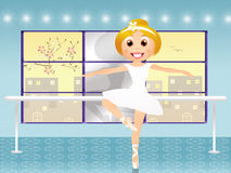Girl in ballet school Royalty Free Stock Image