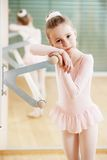 Girl at ballet training Stock Images