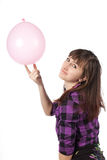 The girl with ballon Stock Photos