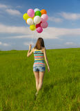 Girl with Ballons Royalty Free Stock Photo