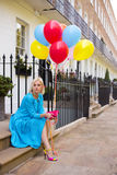 Girl with ballons Stock Photo