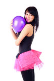 Girl and balloon Royalty Free Stock Photo