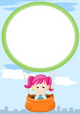 Girl in balloon Stock Images