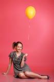 Girl With Balloon Stock Image