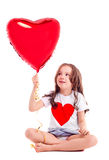 Girl with a balloon Stock Image