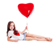 Girl with a balloon Royalty Free Stock Photo