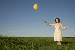 Girl with balloon Royalty Free Stock Photography
