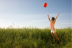 Girl with balloon Royalty Free Stock Photo