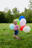 Girl with balloon Stock Photo