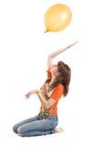 Girl with balloon Royalty Free Stock Photos