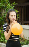 Girl and balloon Royalty Free Stock Images
