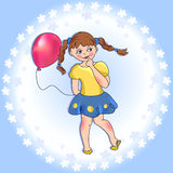 Girl with a balloon Royalty Free Stock Photography