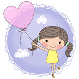 Girl with balloon Royalty Free Stock Image