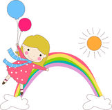 Girl balloons Royalty Free Stock Photography