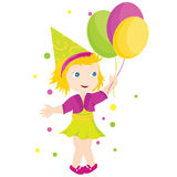 Girl with balloons Royalty Free Stock Photos
