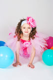 The girl with balloons Royalty Free Stock Images