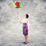 Girl with balloons Royalty Free Stock Photo