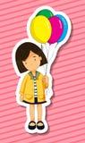 Girl and balloons Stock Image