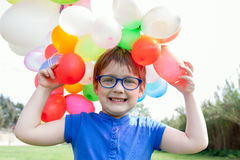 Girl   with balloons . Royalty Free Stock Photography
