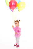 Girl with balloons. Stock Photo