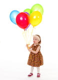 Girl with balloons. Stock Photography