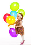 Girl with balloons. Royalty Free Stock Images