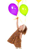 Girl with balloons. Stock Photos