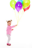 Girl with balloons. Royalty Free Stock Photo