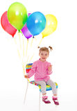 Girl with balloons. Royalty Free Stock Photography