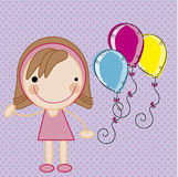 Girl and balloons Stock Photo