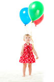 The girl with balloons Stock Photo