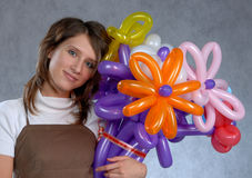 Girl and balloons Royalty Free Stock Photo