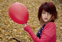 Girl with baloon Stock Photos