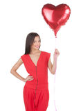 Girl with baloons. Royalty Free Stock Photos