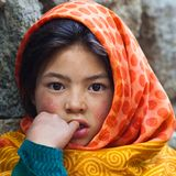 Girl from Baltistan, Ladakh Royalty Free Stock Images