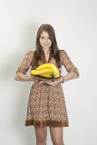 The girl with banana Stock Photo