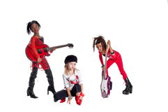 Girl Band Stock Photography