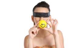girl with  band and smile ball Stock Images