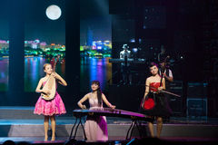 Girl Band With Chinese Folk Instruments Stock Image