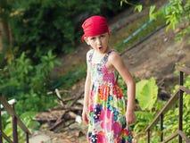 Girl in  bandana Stock Images