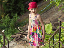 Girl in  bandana Royalty Free Stock Images