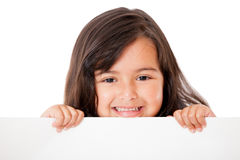Girl with a banner Stock Photography