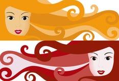 Girl Banner stock photography