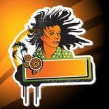 Girl banner Stock Photo