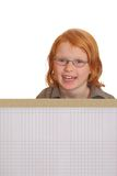 Girl with banner ad Royalty Free Stock Image