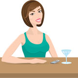 The girl in a bar Stock Photography