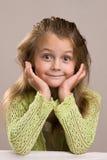 Girl at bar royalty free stock image