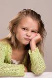 Girl at bar royalty free stock photos