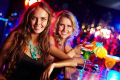 Girl in bar Stock Photography