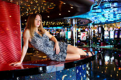 Girl in bar Royalty Free Stock Photos